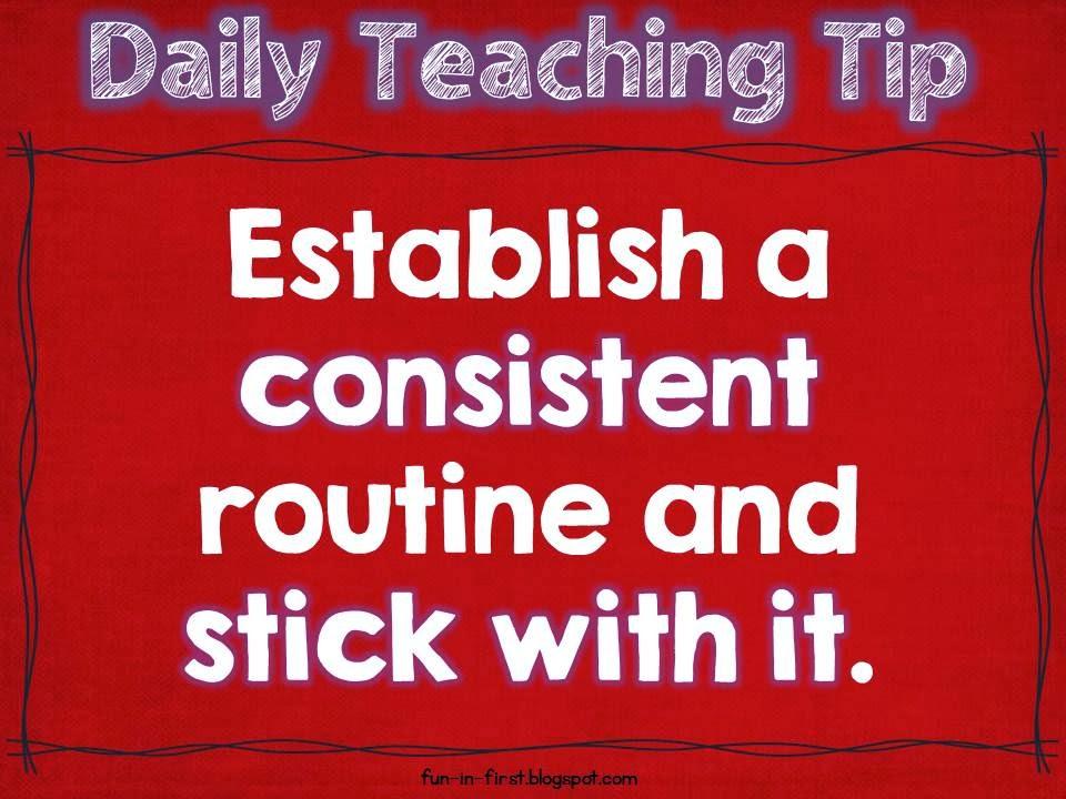 Daily Teaching Tips - Fun in First
