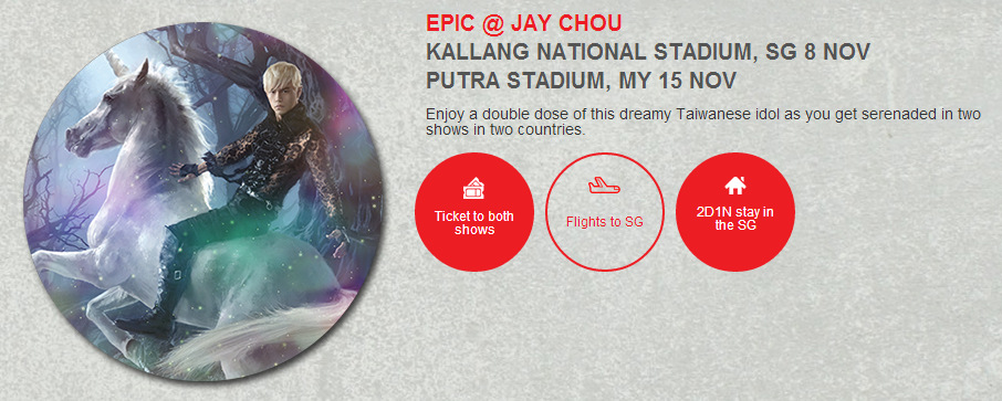 EPIC @ JAY CHOU KALLANG NATIONAL STADIUM, SG 8 NOV PUTRA STADIUM, MY 15 NOV