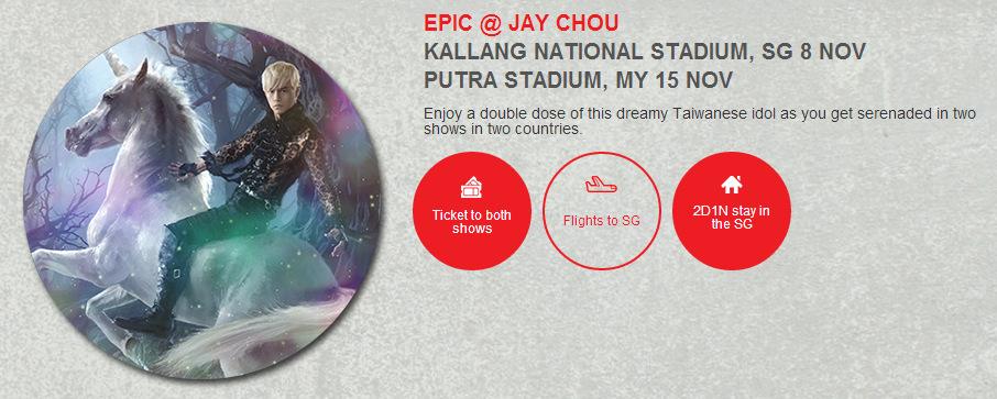 EPIC @ JAY CHOU KALLANG NATIONAL STADIUM, SG 8 NOV PUTRA STADIUM, MY 15 NOV