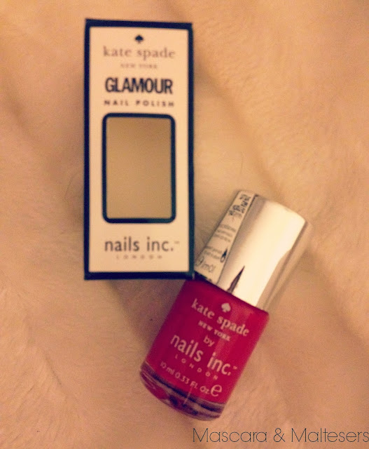 Kate Spade Nails Inc with Glamour Magazine