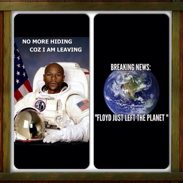 Floyd Mayweather jr  breaking news leaving the planet to avoid manny pacquiao