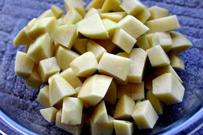 Bowl of Diced Potatoes - Photo by Michelle Judd of Taste As You Go