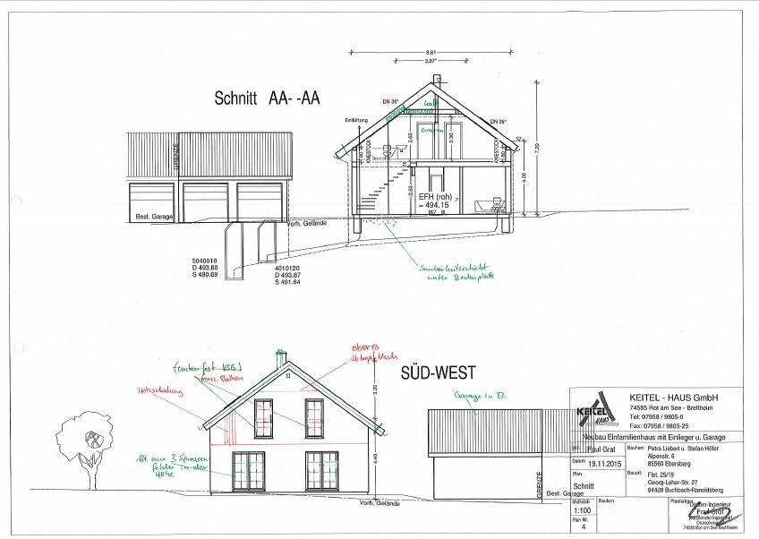 Wir bauen mit keitel haus in markt buchbach aktuelle baupl ne for Haus bauen firmen