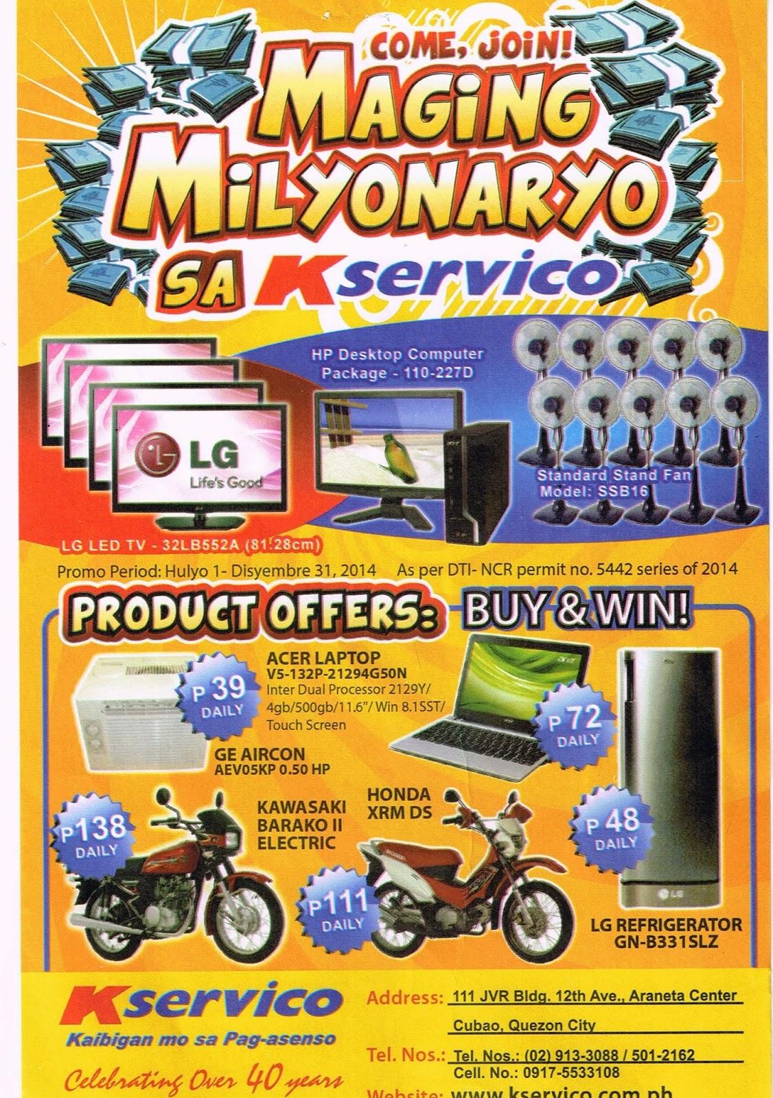 Kservico Trade Inc Maging Milyonaryo Sa Promo Hulyo 1