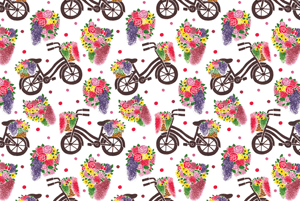 The Vintage Flowers Bike Pattern by Haidi Shabrina
