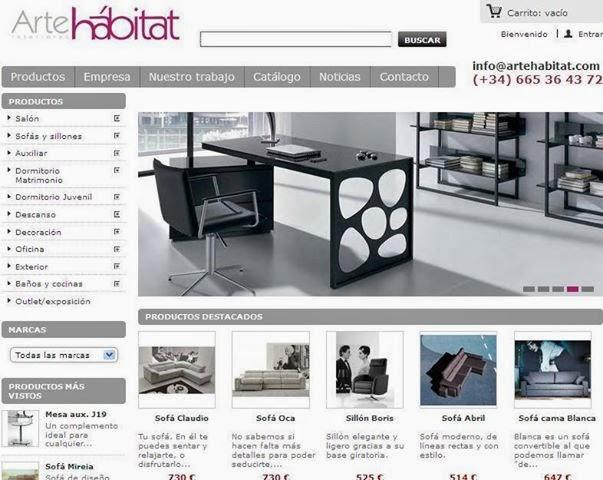 Arte h bitat tu tienda de muebles nueva tienda de for Portico muebles catalogo online