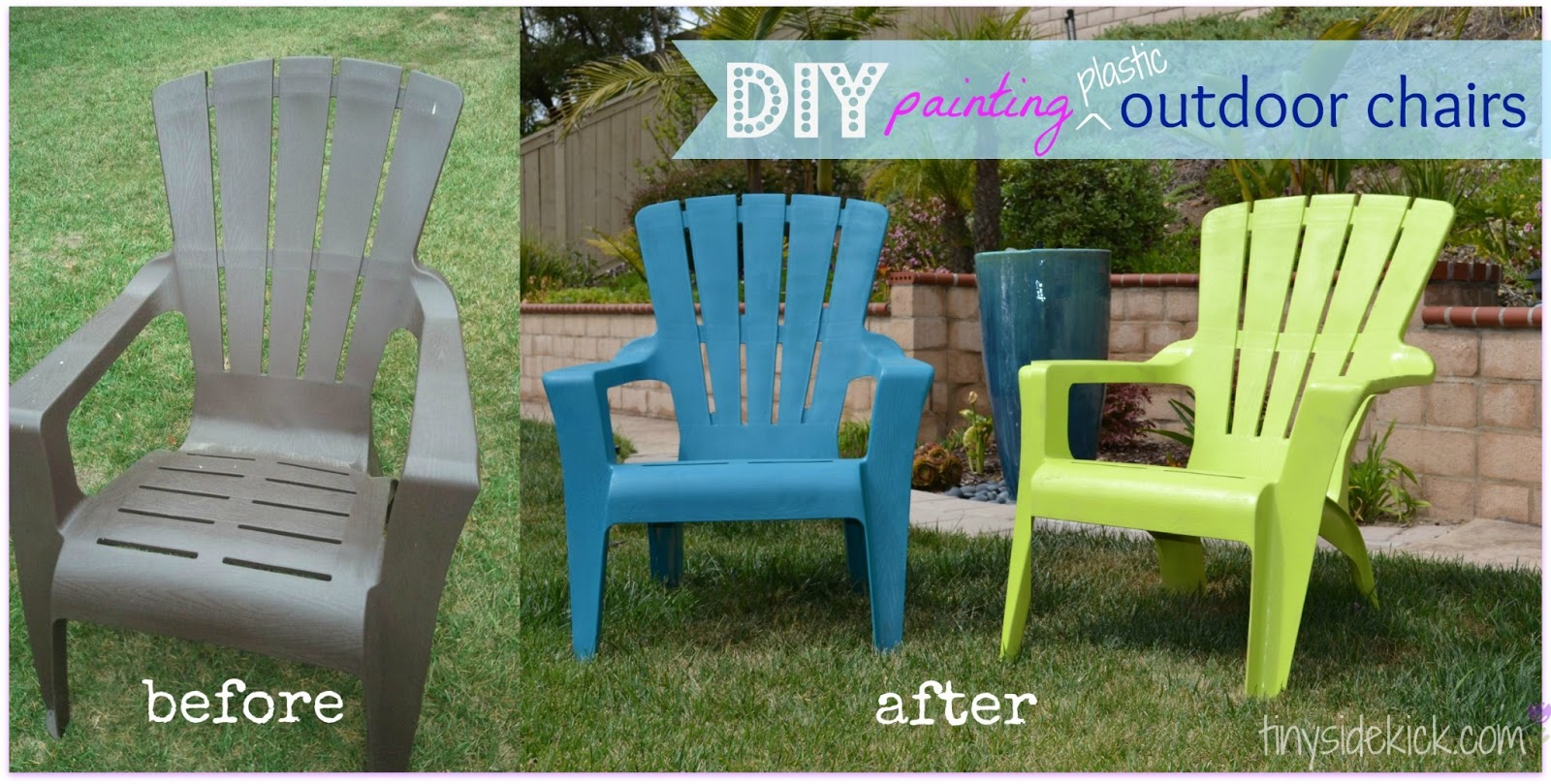 See how i painted plastic outdoor chairs Plastic outdoor furniture