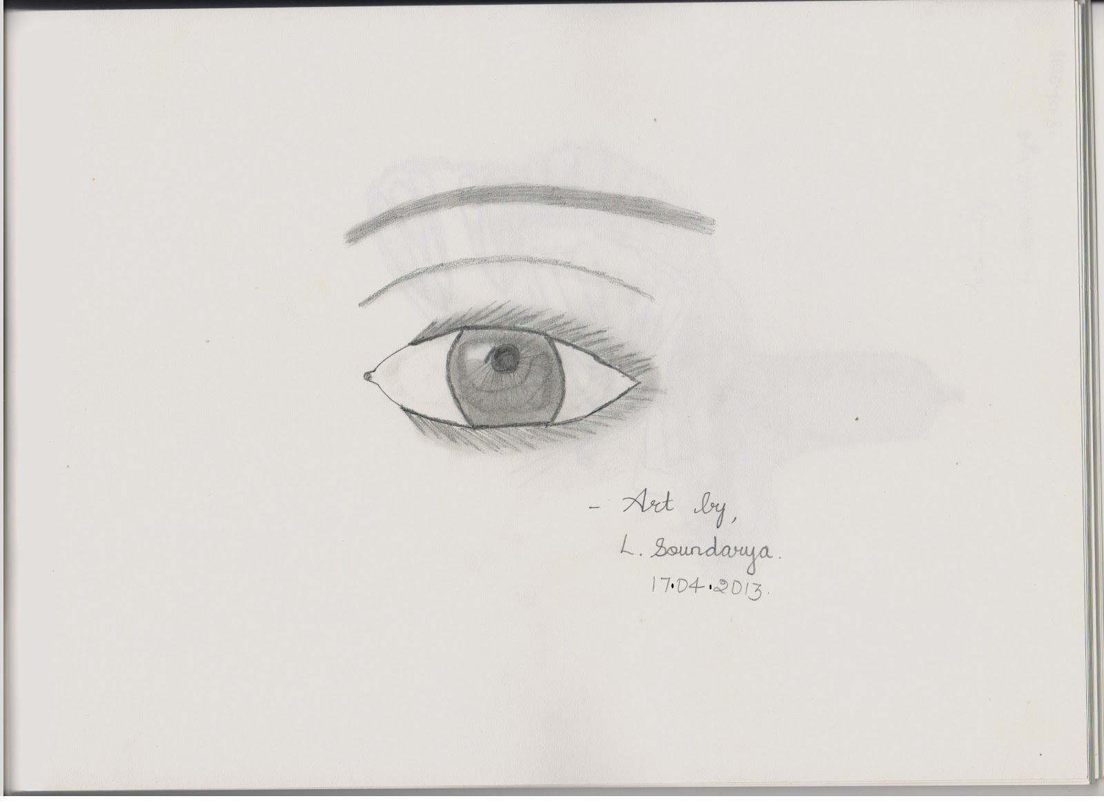 This is a very easy sketch of human eye for beginners