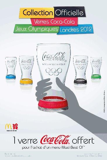 Macdo: 1 verre JO Coca-Cola offert 2012