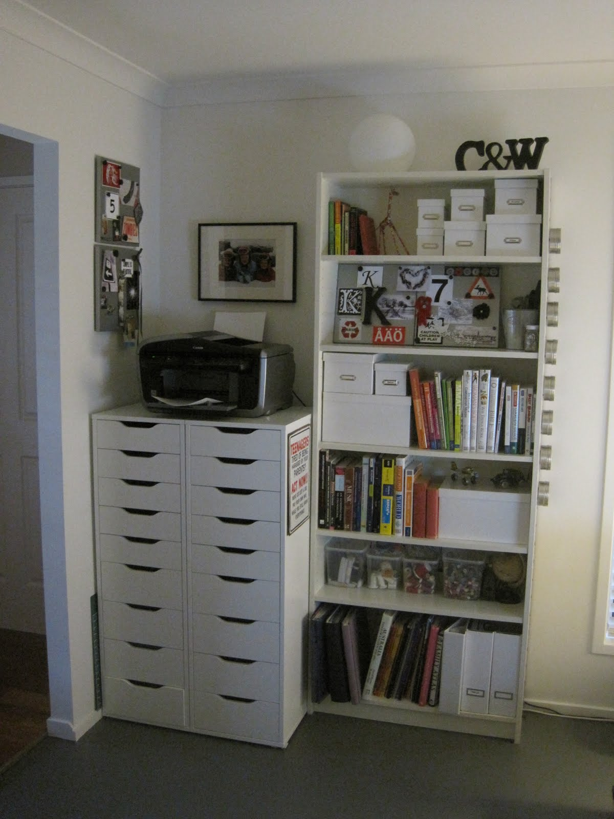 We Bought Some New IKEA Furniture (2 X Alex Drawer Units U0026 1 X Billy  Bookcase); I Grabbed Some White Storage Boxes From Office Works And IKEA;  ...