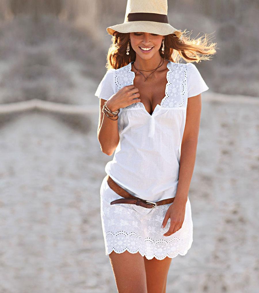 Vestidos blanco para fiesta en la playa