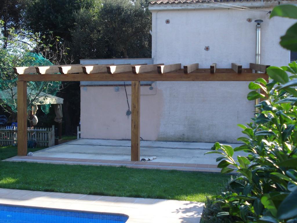 Carpinteria FustMar: Pergola adosada a pared sin techo