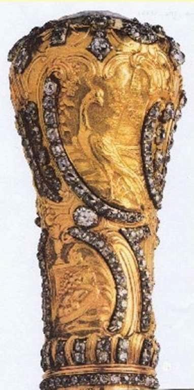 Oro y brillantes. Perteneció al Rey José I de Portugal. Este precioso bastón fue robado en el año 2002