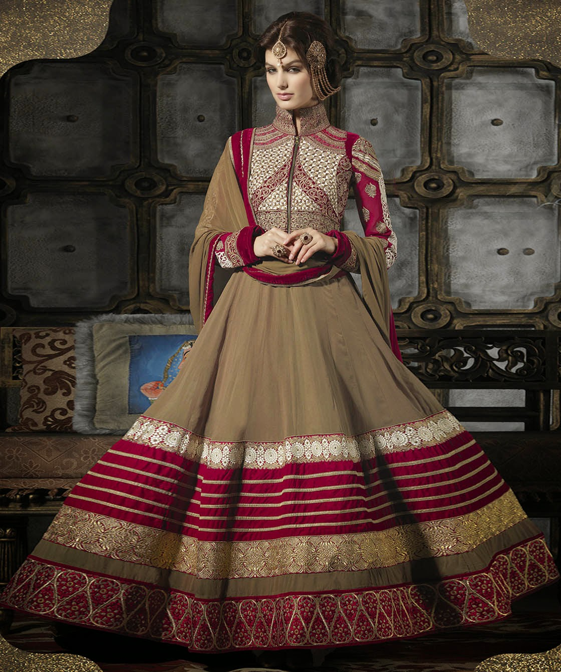 Anarkali embroidery suits collection best photo
