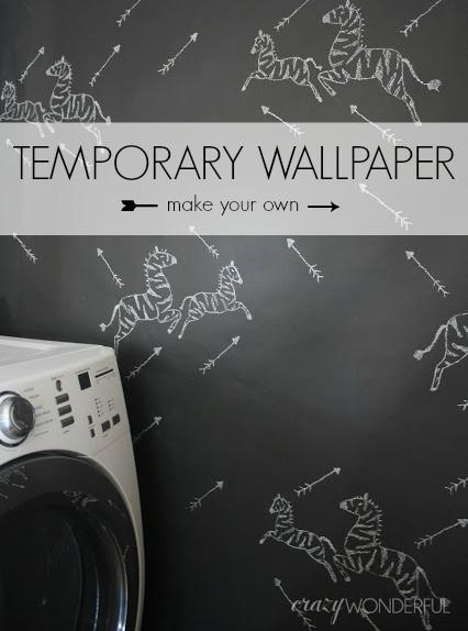 someday crafts diy temporary wallpaper. Black Bedroom Furniture Sets. Home Design Ideas