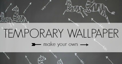 crazy wonderful diy temporary wallpaper