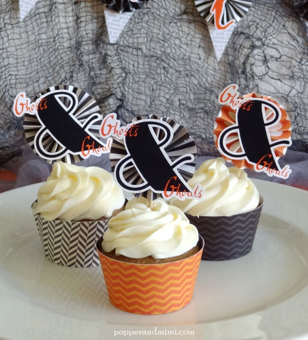 Ghosts and Ghouls Free Printable Cupcake Picks