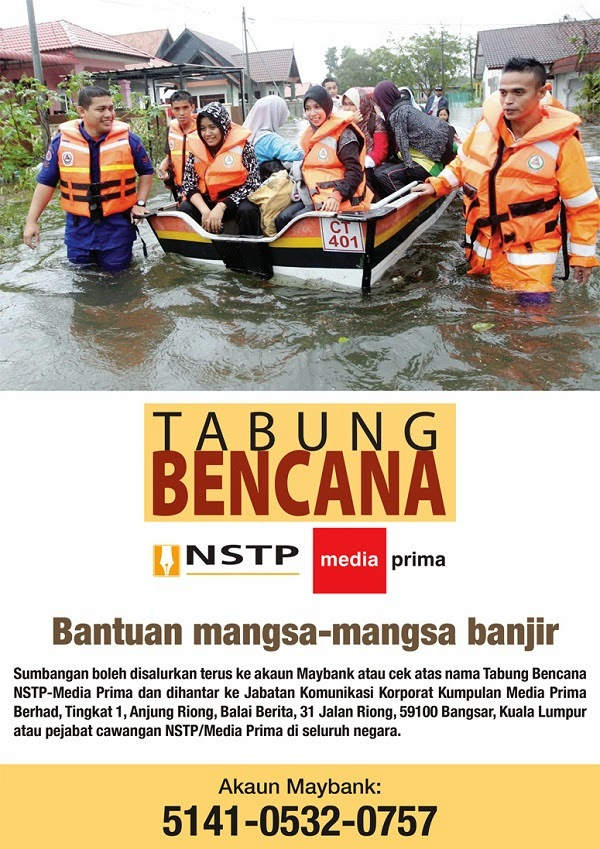 Tabung bencana NSTP & Media Prima