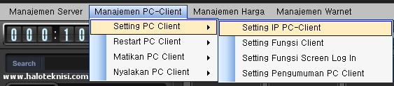 Setting IP Client Pada Smart Billing