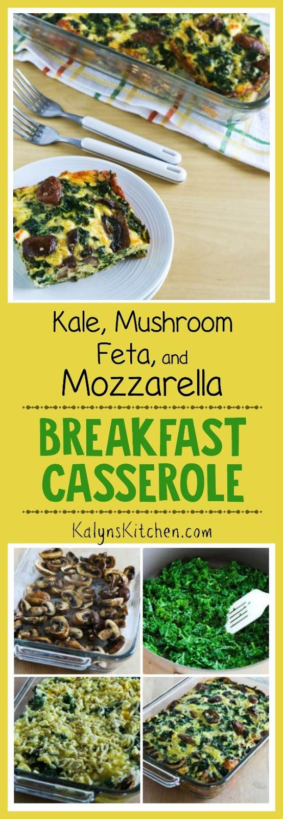 Kale, Bacon and Cheese Breakfast Casserole ~ Kalyn's Kitchen