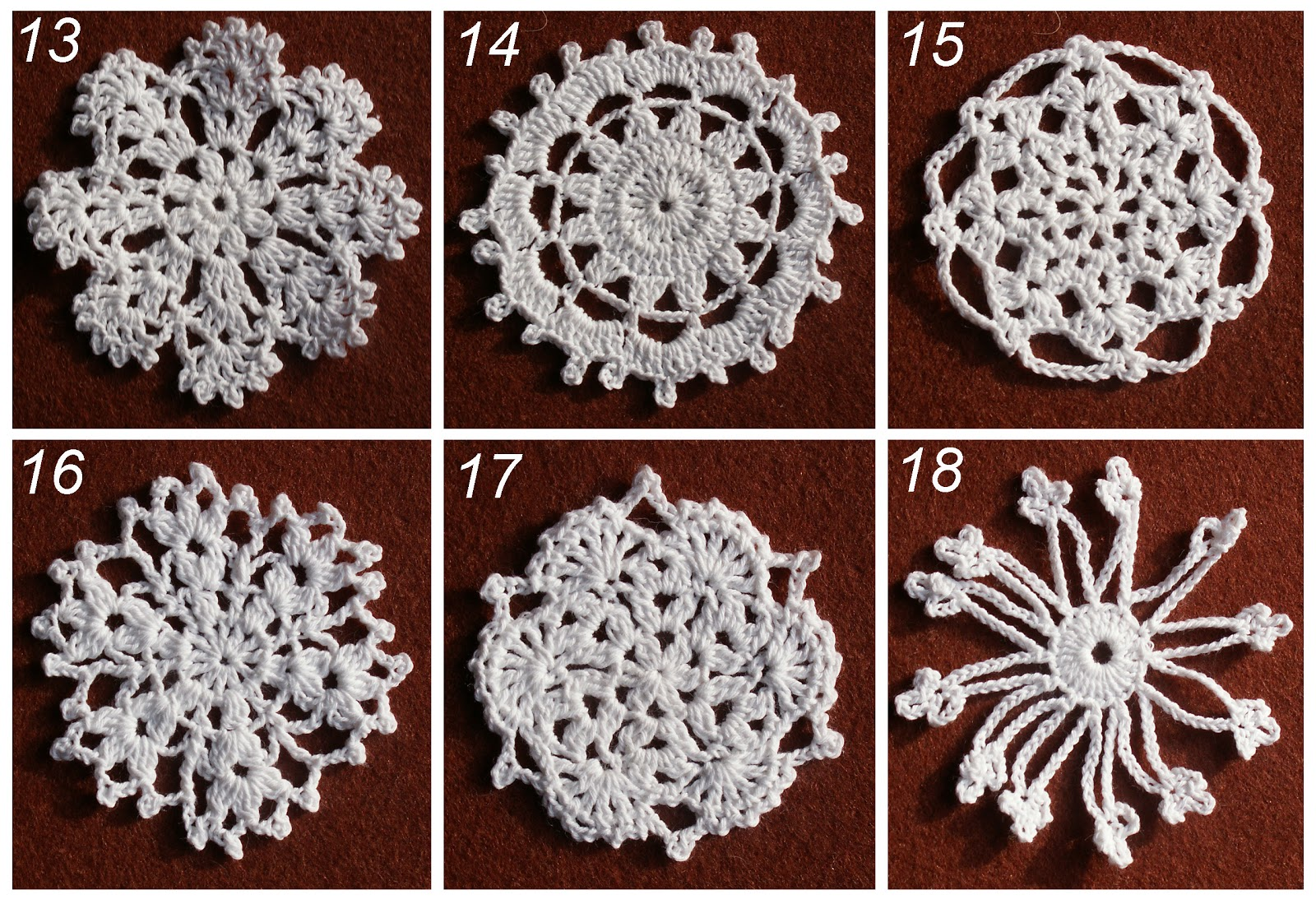 Схема вязания снежинки крючком и фото