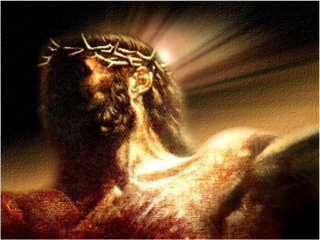 Jesus Christ drawing art picture with crown of thorns on head Christian photo