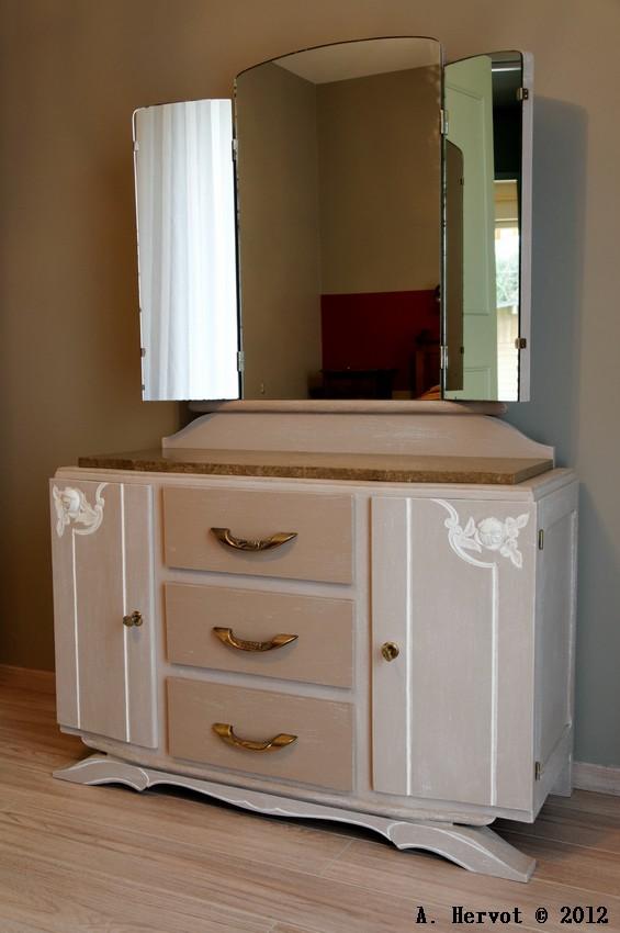 ambiances bois patines coiffeuse effet chaul. Black Bedroom Furniture Sets. Home Design Ideas