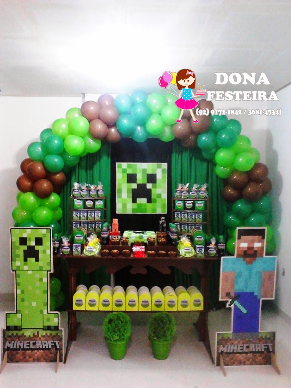 DONA FESTEIRA DECORAÇÃO MINECRAFT -> Decoracao De Banheiro No Minecraft