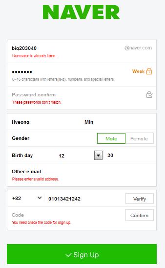 How to create naver id