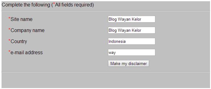 Cara Membuat Halaman Disclaimer Untuk Blog Dengan Mudah