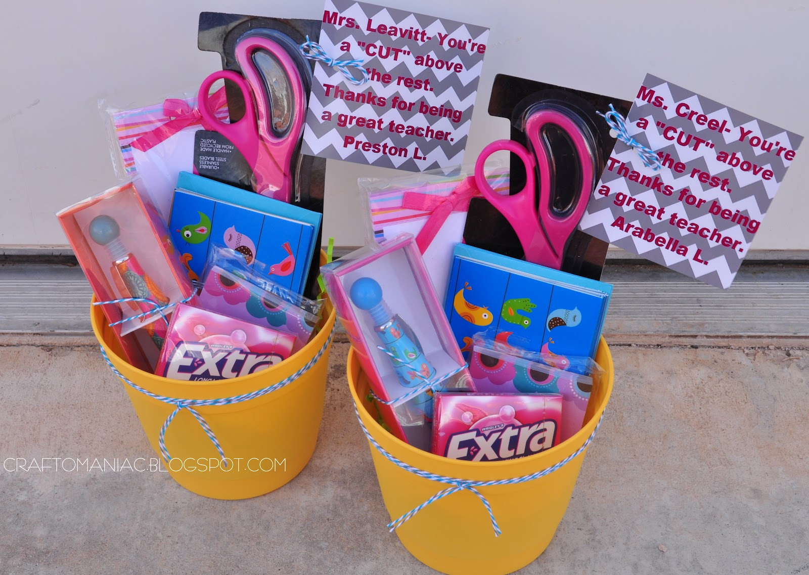 Teacher Appreciation Gift Idea - Craft-O-Maniac