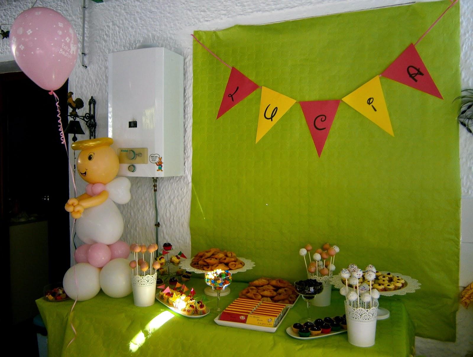 Los estudiantes comemos bien: Mesa dulce para el bautizo de Lucía