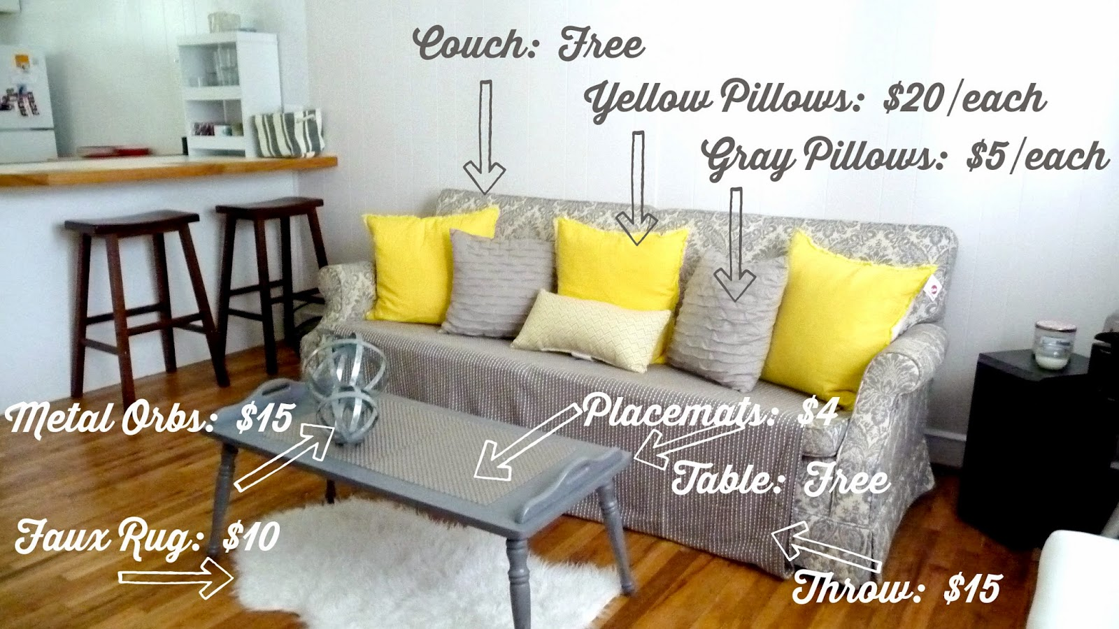 decorating ideas gunmetal grey and yellow world market target crate&barrel