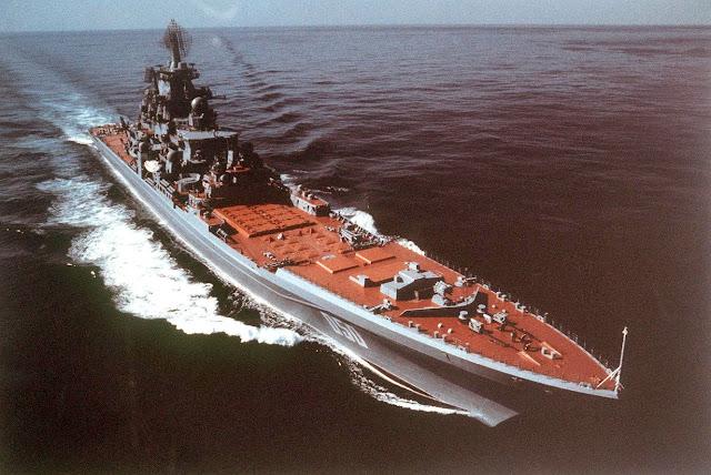 Kapal jelajah bertenaga nuklir Rusia menuju Mediterania