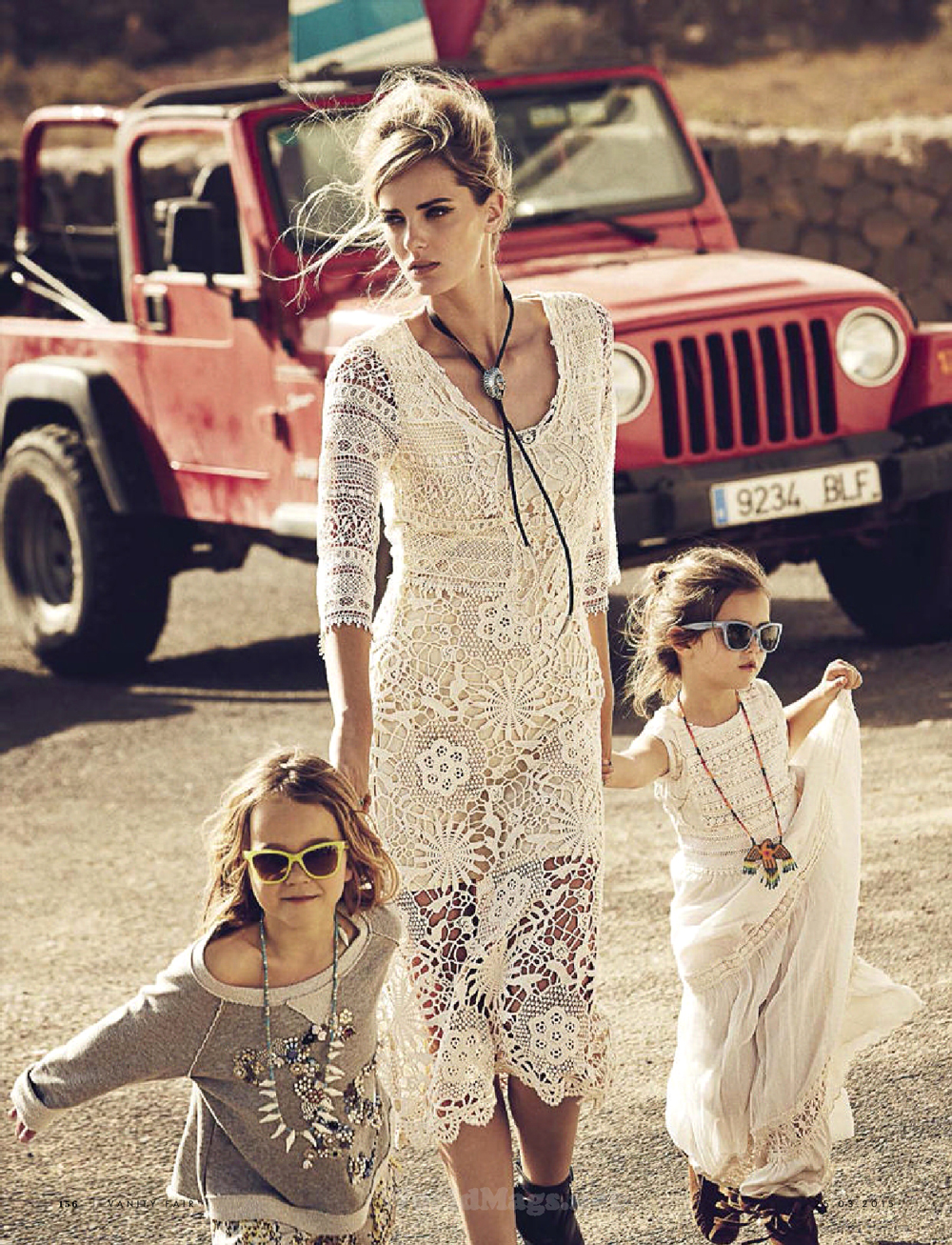 Vanity Fair Italia March 2015 / baby girl, mother & daughter fashion editorials / models & their children / via fashioned by love british fashion blog