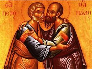 Τη μνήμη των Αγίων Αποστόλων Πέτρου και Παύλου τιμά και εορτάζει η Αγία μας Εκκλησία στις 29 Ιουνίου.