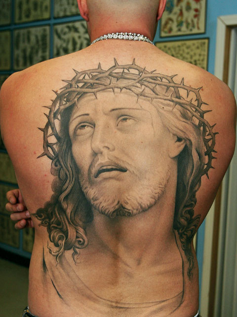 jesus on cross tattoo. hair Jesus Cross Tattoo