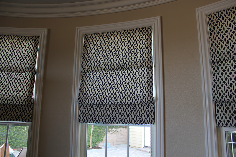 Bdg style custom window treatments fabric roman shades for Fabric window blinds designs