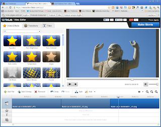Imagem cortada para 16x9 num editor de video