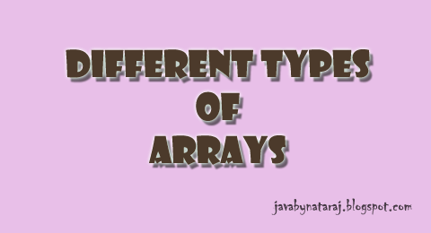Types of Arrays in Java_JavabynataraJ