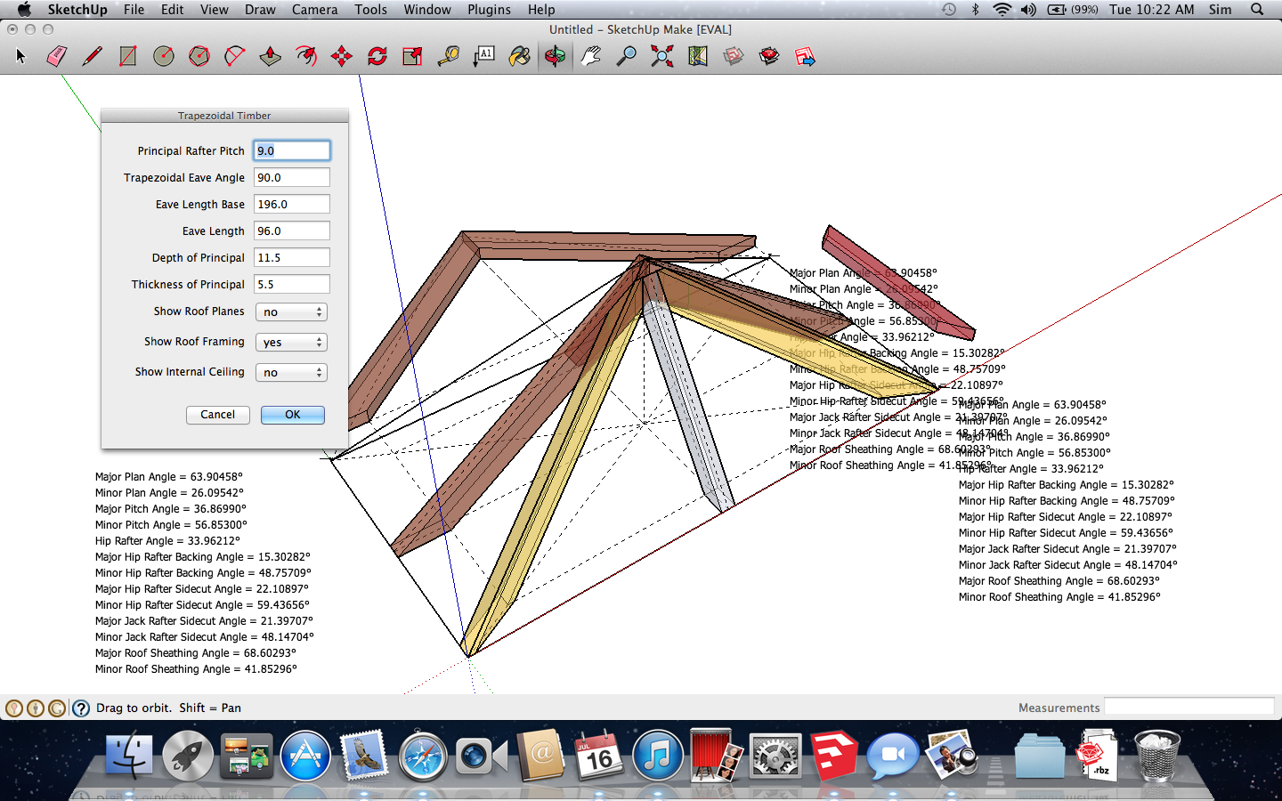 Roof framing geometry google sketchup ruby plugin for Sketchup 2013