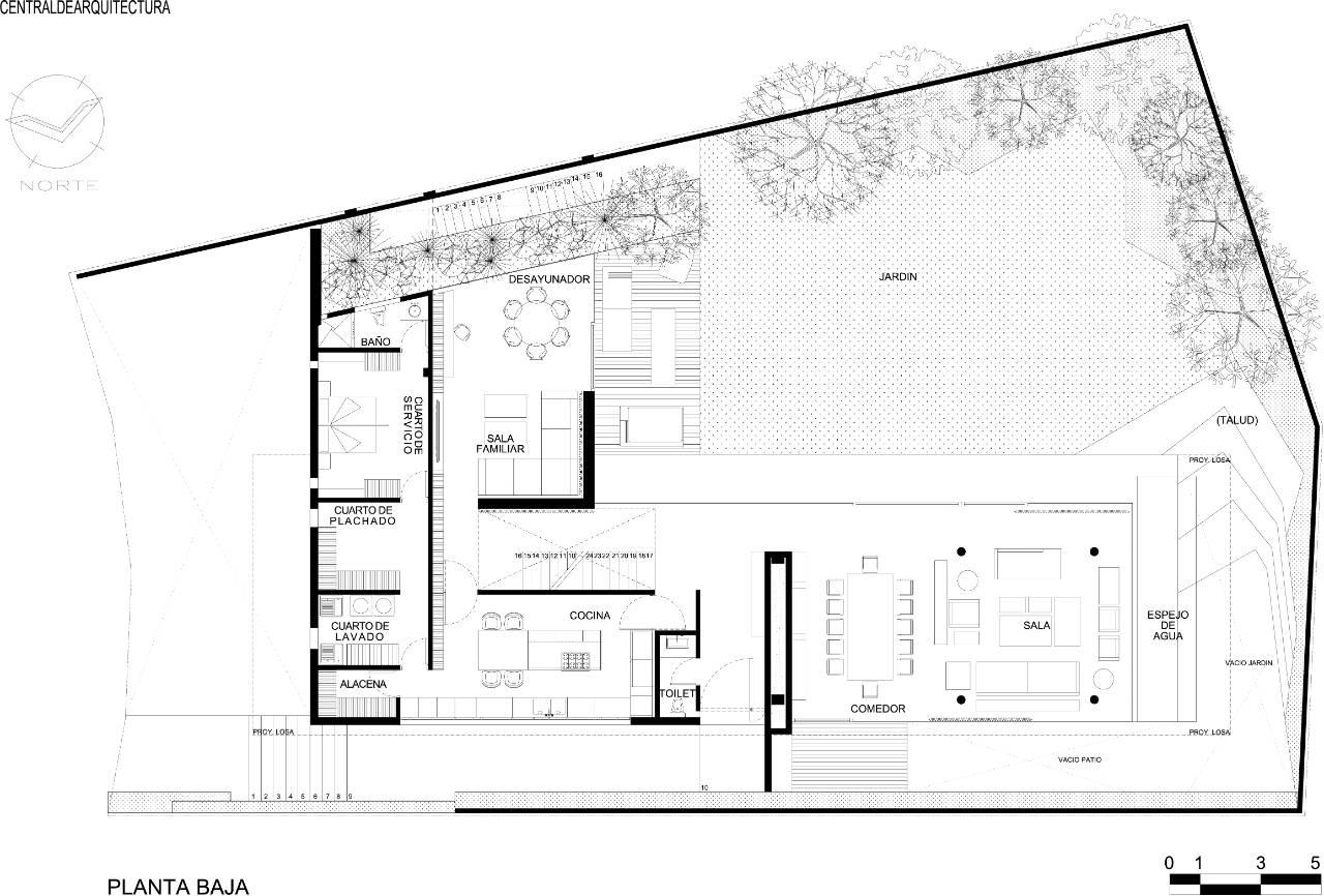 Archidia house la punta for Minimalist house plans