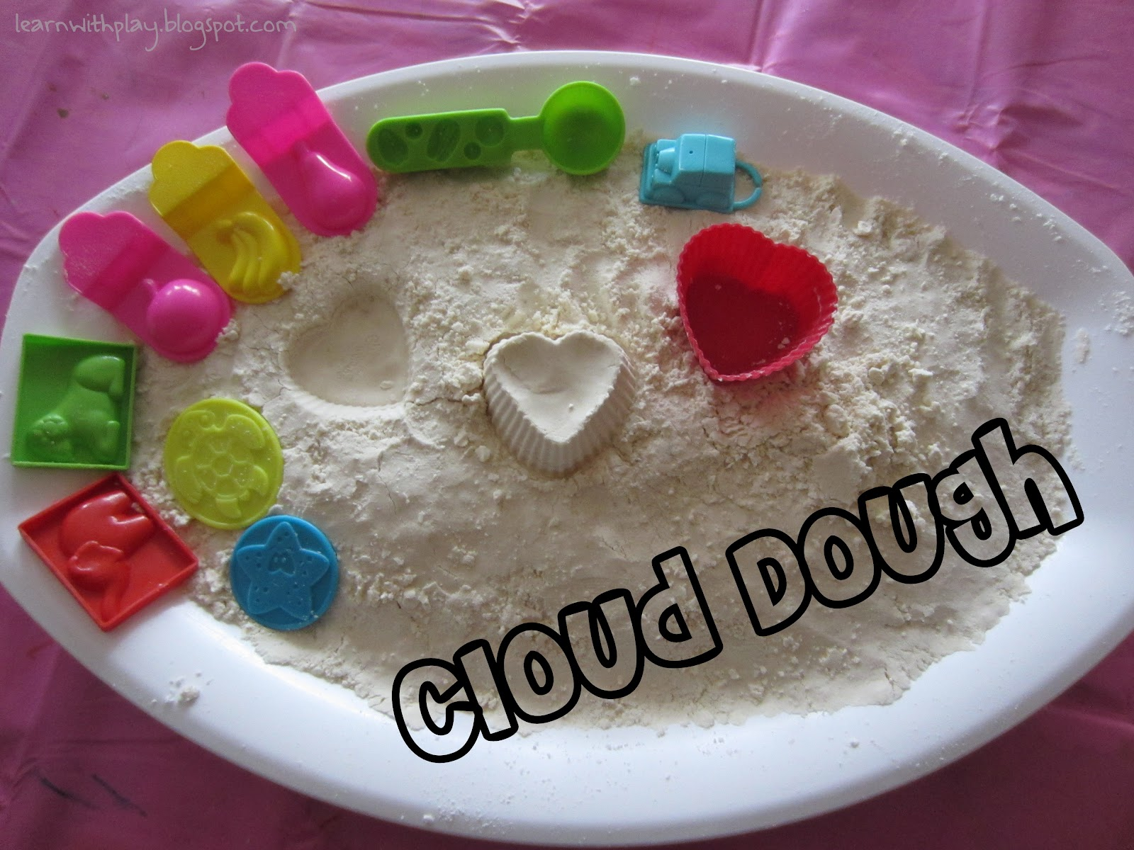 How to make cloud dough at home traducida