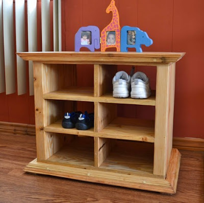 redwood shoe cubbies