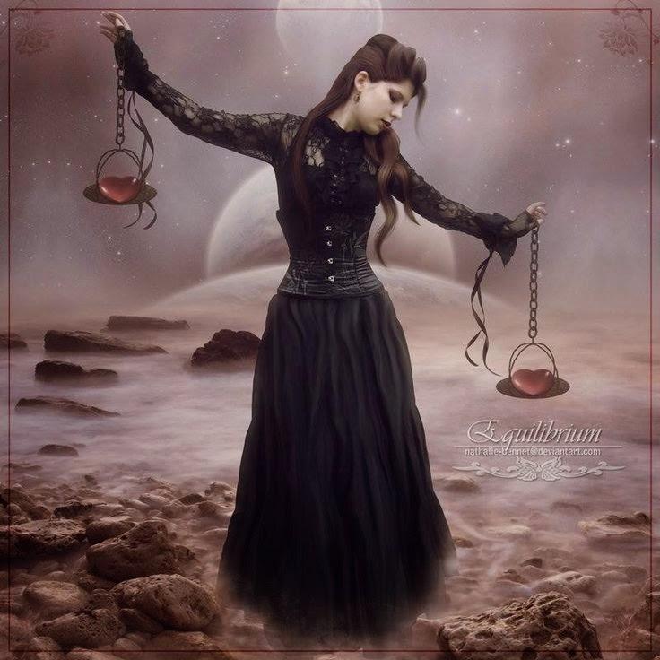 Mujer en punto de equilibrio signo Libra