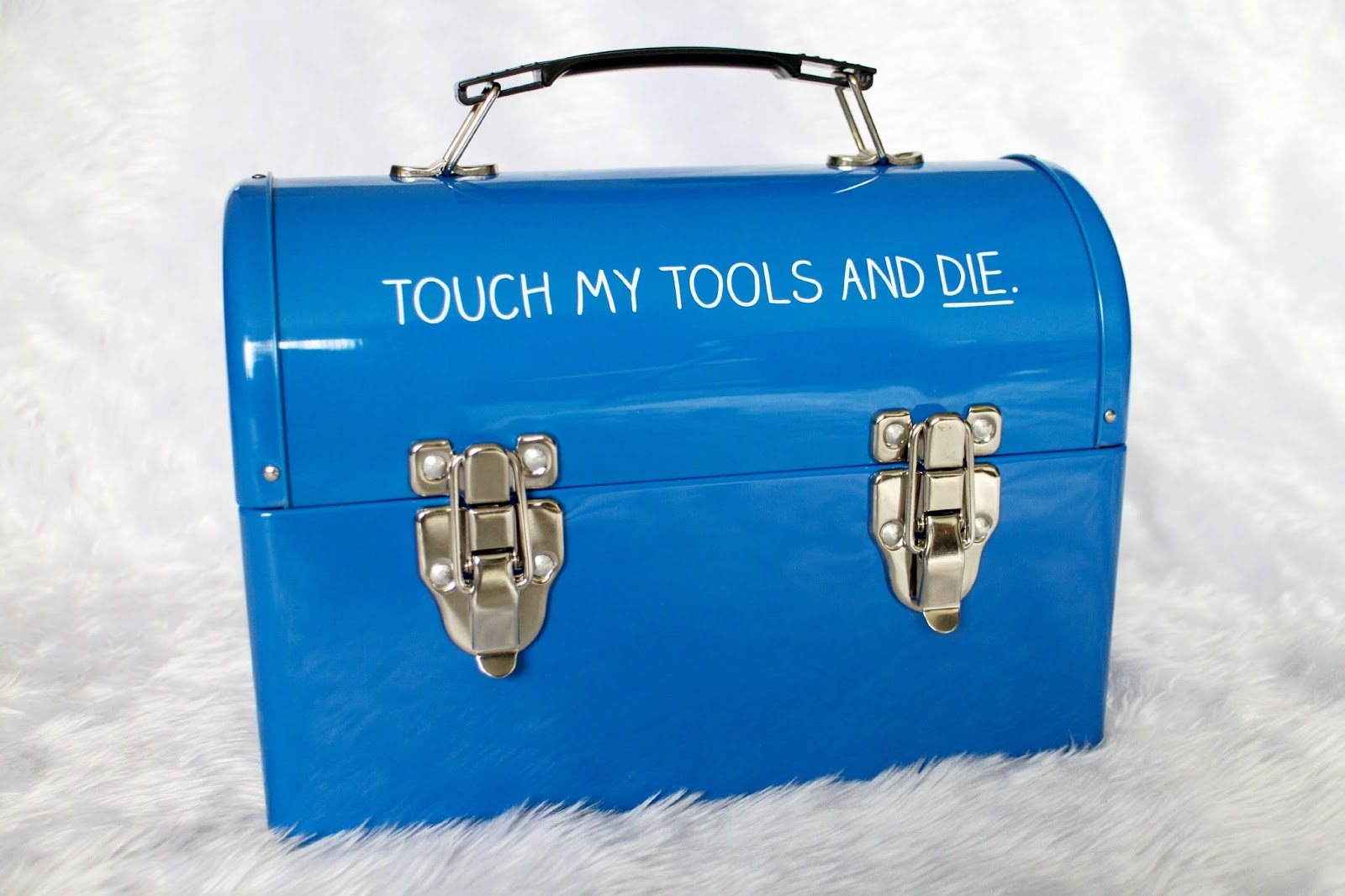 Happy Jackson Blue 'Touch My Tools' Tool Box