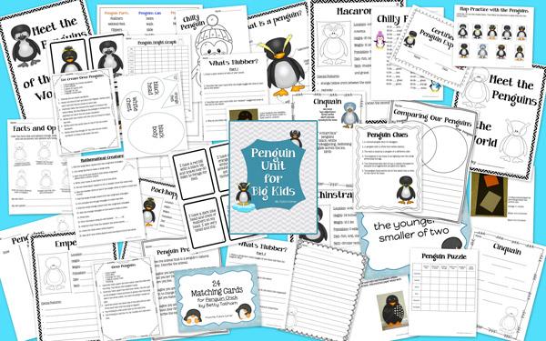 http://www.teacherspayteachers.com/Product/Penguin-Unit-for-Big-Kids-946827
