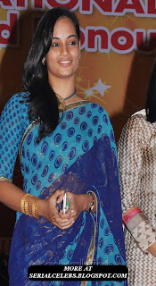 Actress suja in low hip saree