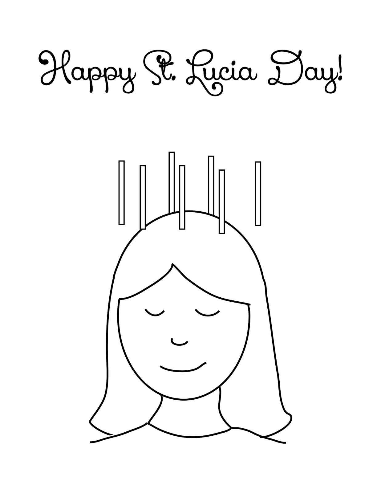 st lucias day coloring pages-#18
