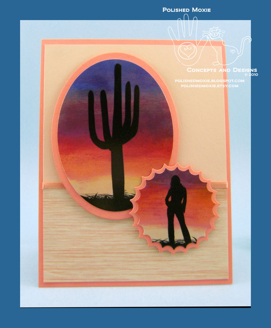 Picture of handmade Southwestern sunrise card
